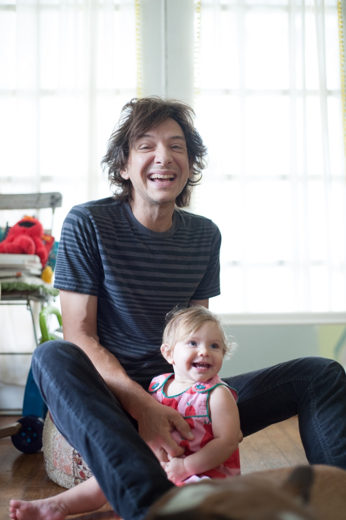 Keith Kozel and his daughter Zelia, photo by Siobhan Egan